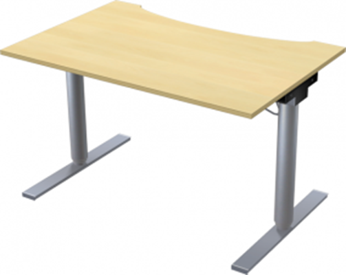 Complete table incl Ergofunk II stand | Cutout, 1200 x 800 mm