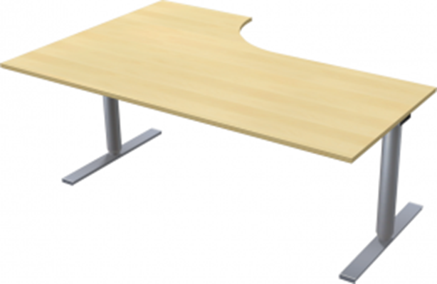 Complete table incl Ergofunk II stand | Right | 1800/1200 x 600/800 mm