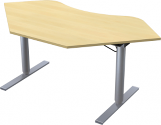 Complete table incl Ergofunk II stand | 90° rounded