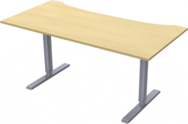 Complete table incl Ergofunk II stand | Cutout | 1600 x 800 mm