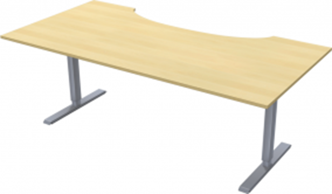 Complete table incl Ergofunk II stand | Cutout | 2000 x 1000 mm