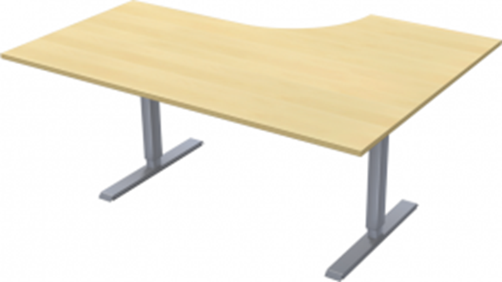 Complete table incl Ergofunk II stand | Left | 1600/1200 x 600/800 mm