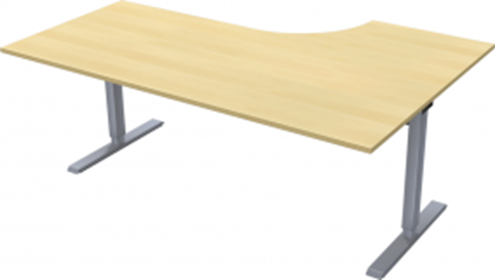 Complete table incl Ergofunk II stand | Left | 1800/1200 x 600/800 mm