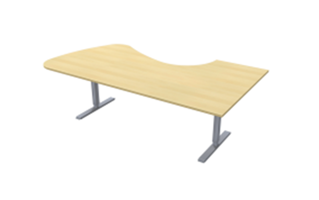Complete table incl Ergofunk II stand | Left | 2200/1200 x 600/1100 mm